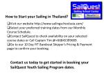 how to start your sailing in thailand