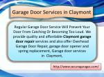 garage door services in claymont