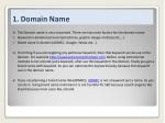 1 domain name