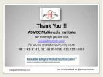 thank you admec multimedia institute for more