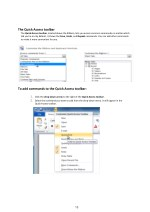 the quick access toolbar the quick access toolbar