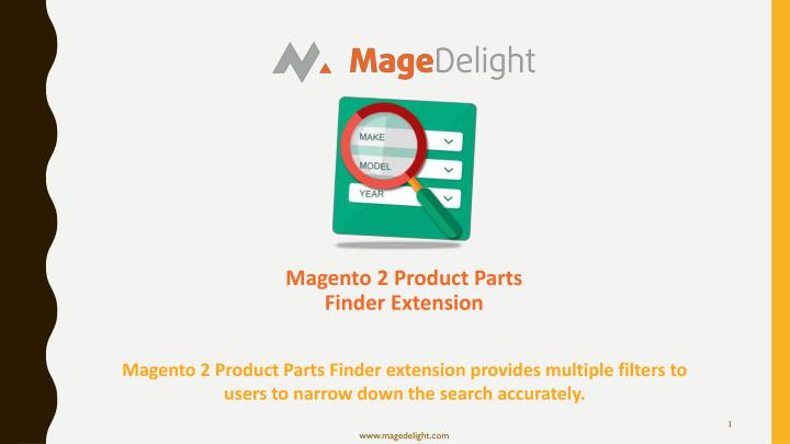 magento 2 product parts finder extension n.
