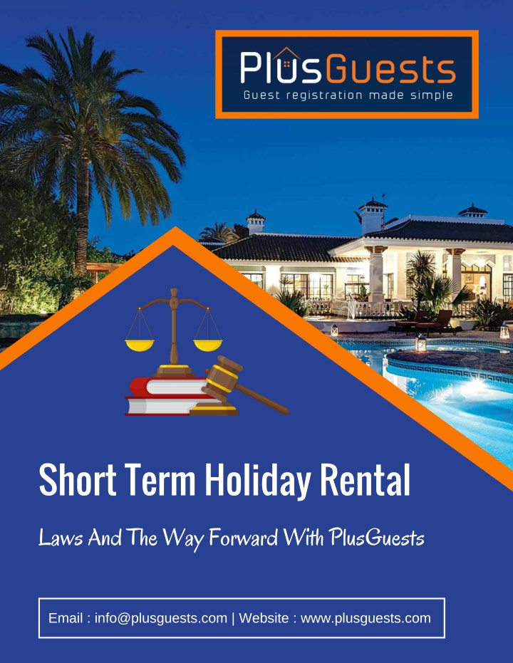 short term holiday rental n.