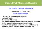 cis 336 study successful learning 10