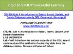 cis 336 study successful learning 11