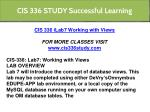 cis 336 study successful learning 13