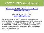 cis 339 guide successful learning 6