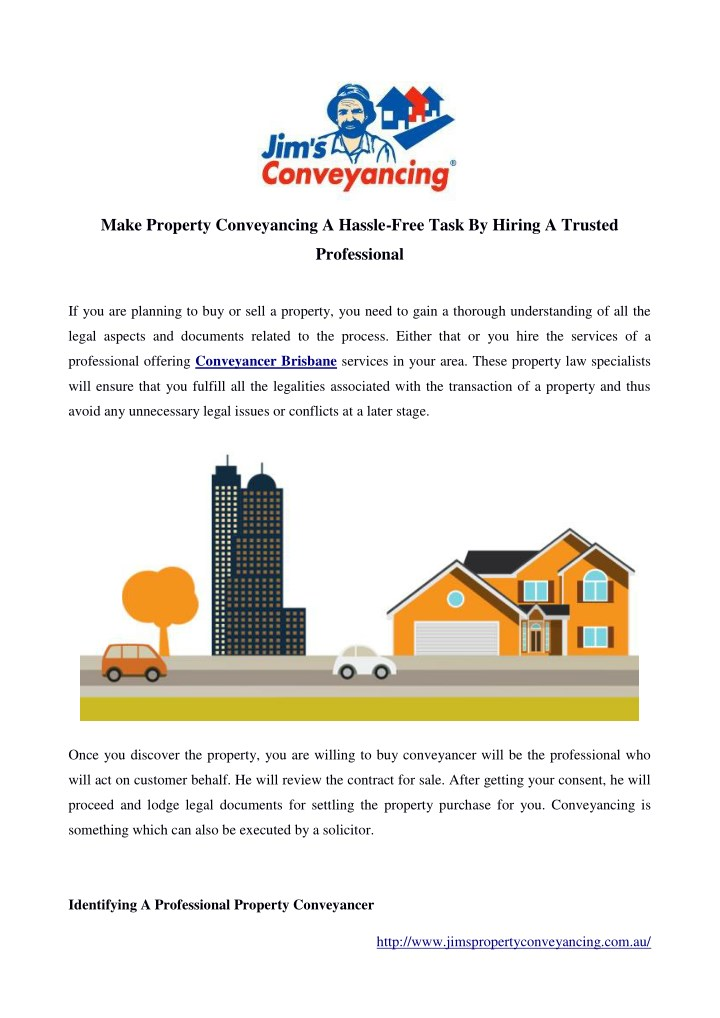 make property conveyancing a hassle free task n.