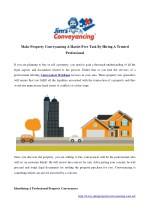 make property conveyancing a hassle free task