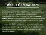 about gomow com
