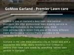 gomow garland premier lawn care