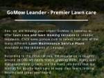 gomow leander premier lawn care