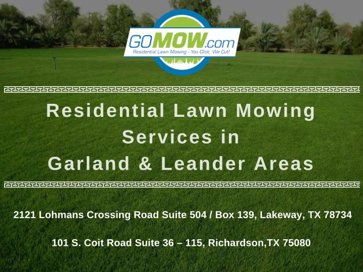 residential lawn mowing services in garland n.