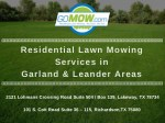 residential lawn mowing services in garland