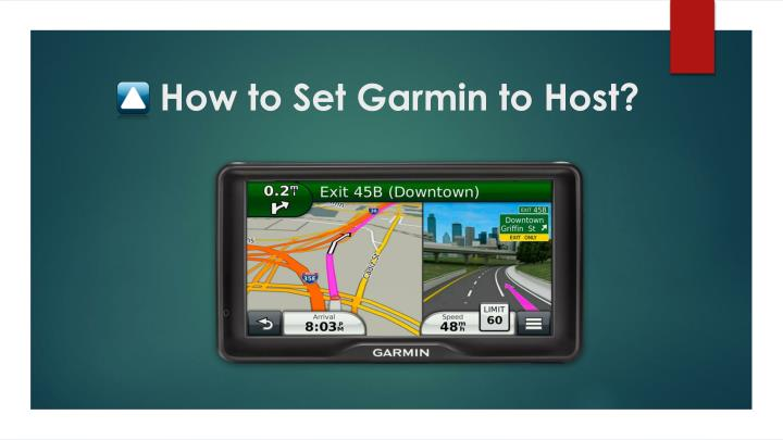 how to set garmin to host n.