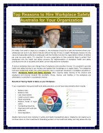 top reasons to hire workplace safety australia