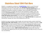 stainless steel 304 flat bars