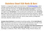 stainless steel 316 rods bars