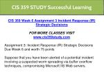cis 359 study successful learning 11
