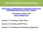cis 409 rank successful learning 10