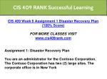 cis 409 rank successful learning 21