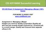 cis 409 rank successful learning 22