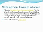 wedding event coverage in lahore 1