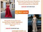 red long prom dresses strapless floor length