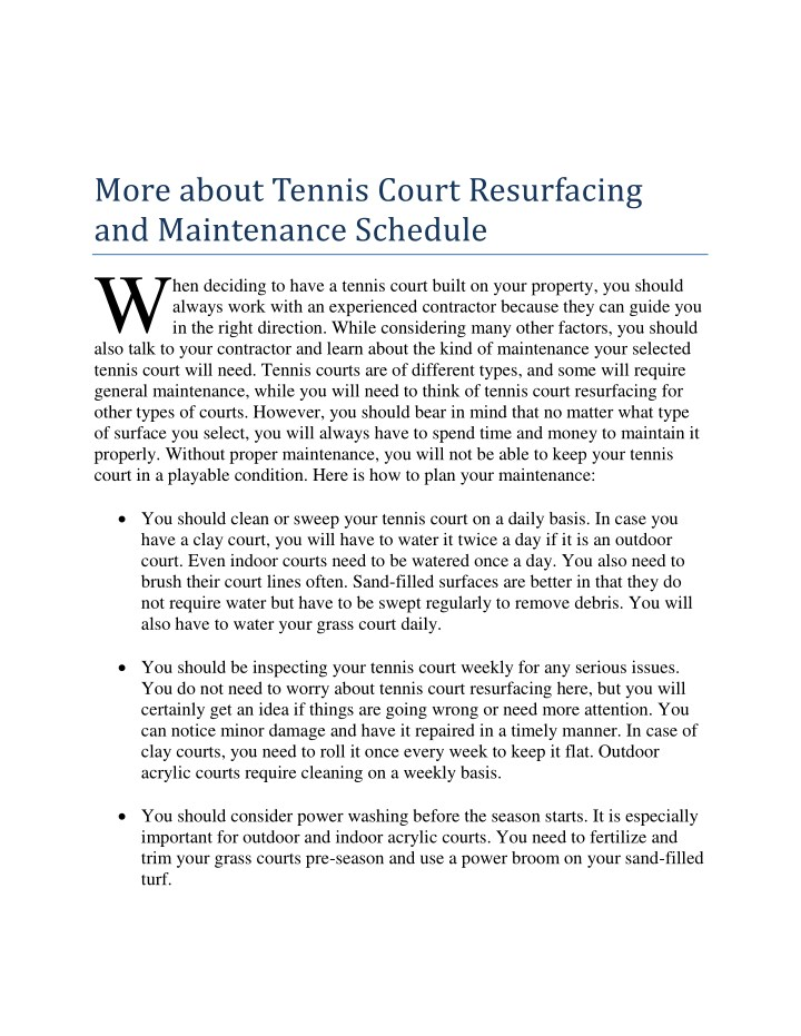 more about tennis court resurfacing n.