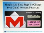 simple and easy steps to change your gmail account password