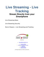 live streaming live tracking stream directly from