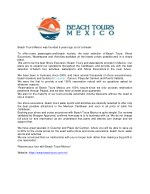 beach tours mexico was founded 9 years