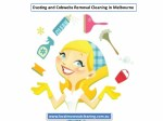 dusting and cobwebs removal cleaning in melbourne