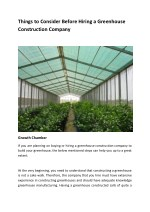 things to consider before hiring a greenhouse
