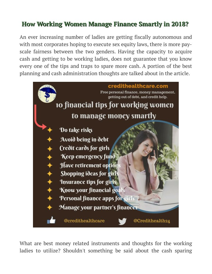 how working women manage finance smartly in 2018 n.