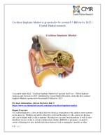 cochlear implants market is projected