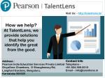 visit us http talentlens in 1