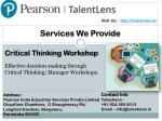 visit us http talentlens in 2