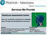 visit us http talentlens in 3