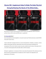 xtremo 500 supplement helps to make the body tidy
