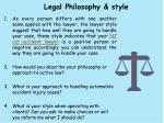 legal philosophy style