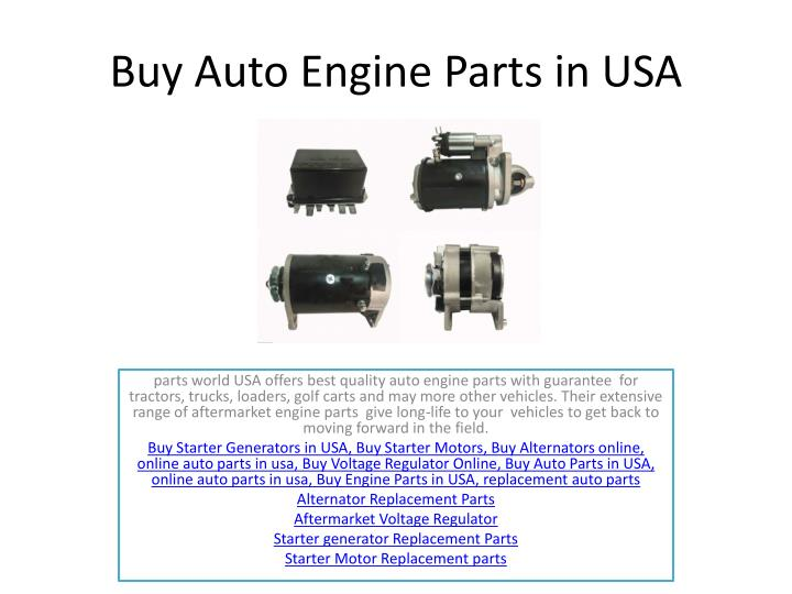 buy auto engine parts in usa n.