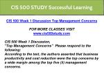 cis 500 study successful learning 1
