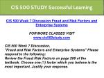 cis 500 study successful learning 11
