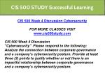 cis 500 study successful learning 7