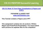 cis 512 mentor successful learning 17