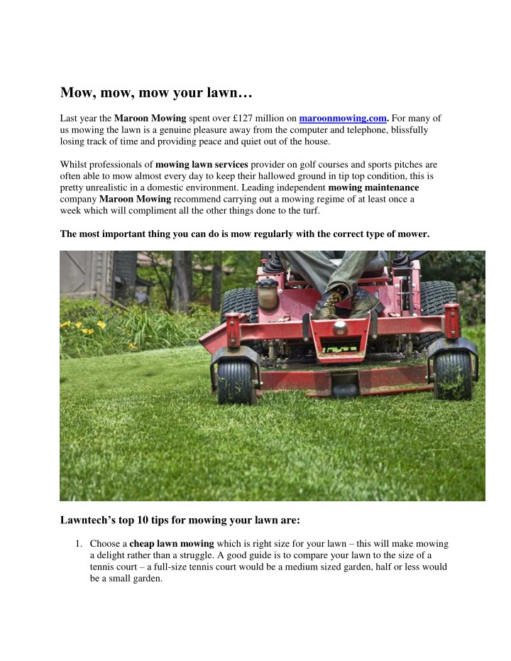 mow mow mow your lawn n.