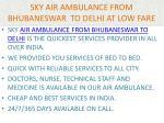 sky air ambulance from bhubaneswar to delhi at low fare