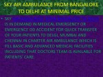 sky air ambulance from bangalore to delhi
