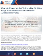 concrete pumps market to grow due to rising usage